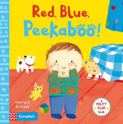 Book cover for Red, Blue, Peekaboo